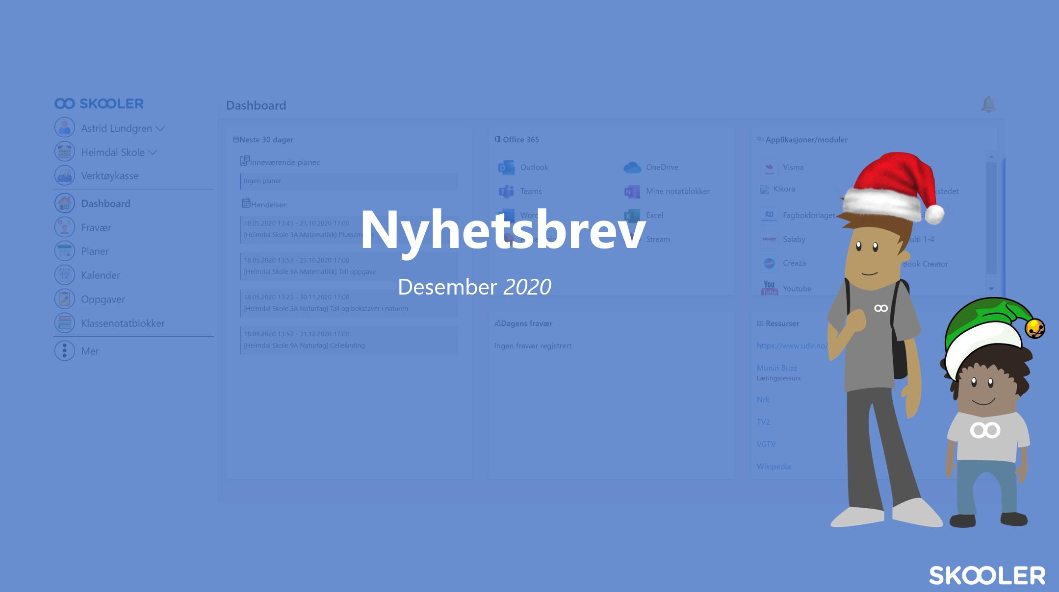 Nyhetsbrev – desember 2020