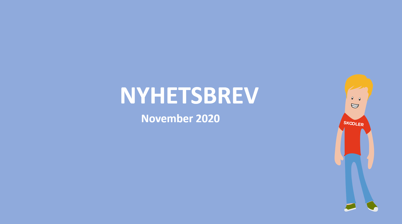 Nyhetsbrev – november 2020